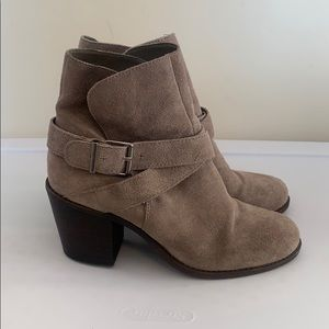BCBGeneration taupe suede ankle boots, size 8.5